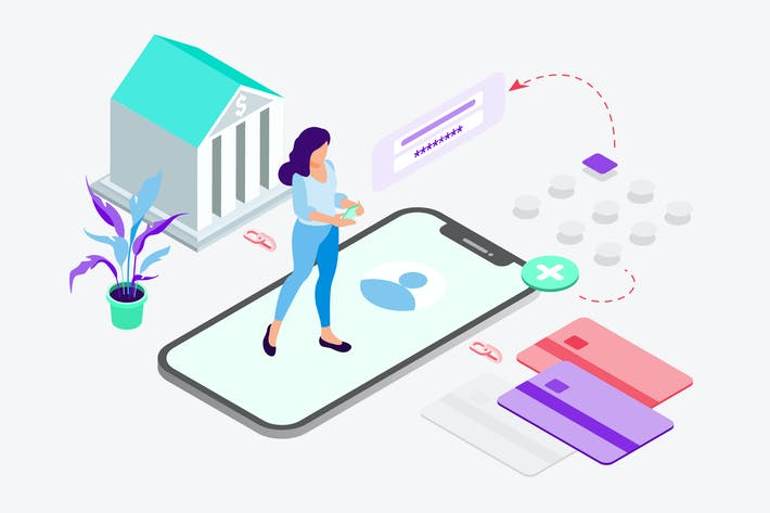 Thumbnail for Link Bank Accounts on Digital Wallet Isometric