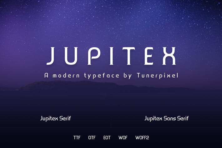 Thumbnail for Jupitex - A Modern Font