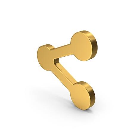 Symbol Share Button Gold