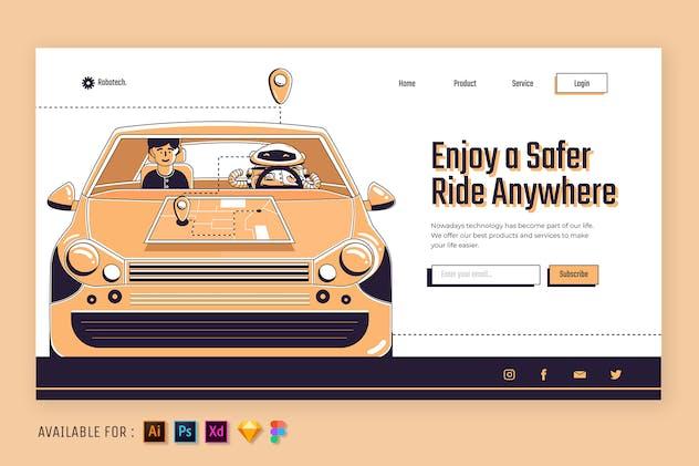 Robot Driver Assistant - Web Illustration