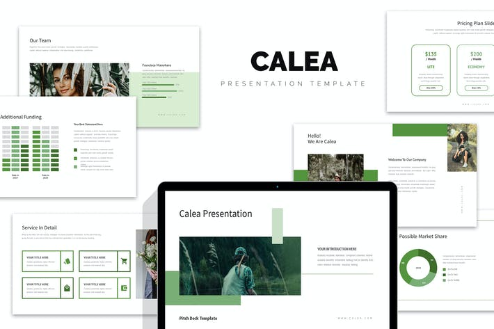 Calea : Green Color Tone Pitch Deck Keynote