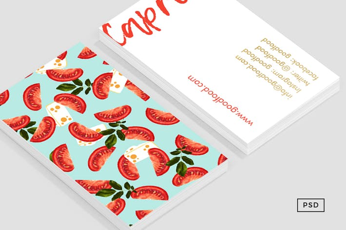 Thumbnail for Caprese Food Business Card Template