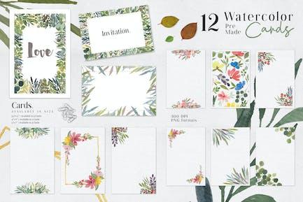 Ofi 12 Aquarell-Karten