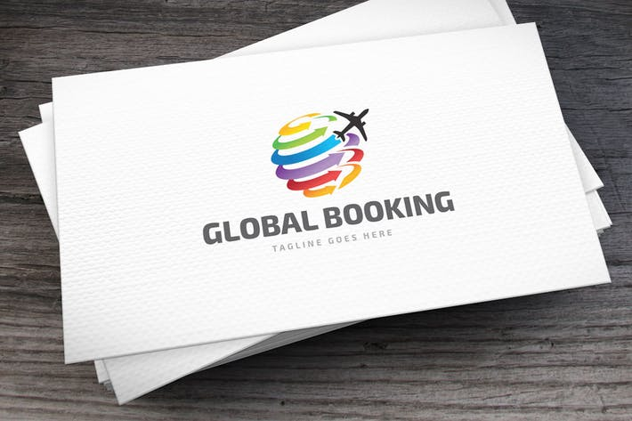 Thumbnail for Global Booking Logo Template
