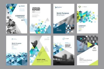 Broschüre, jährlich bericht, Flyer DesignVorlagen