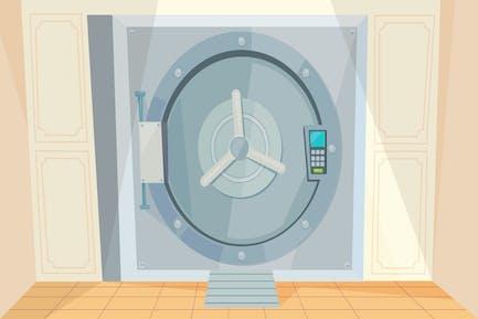 Safe Deposit Box - Illustration Background