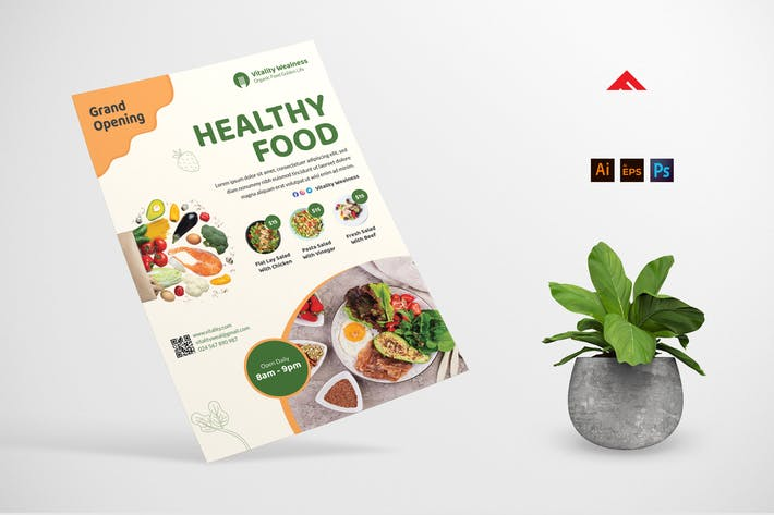 Dépliant sur les aliments sains