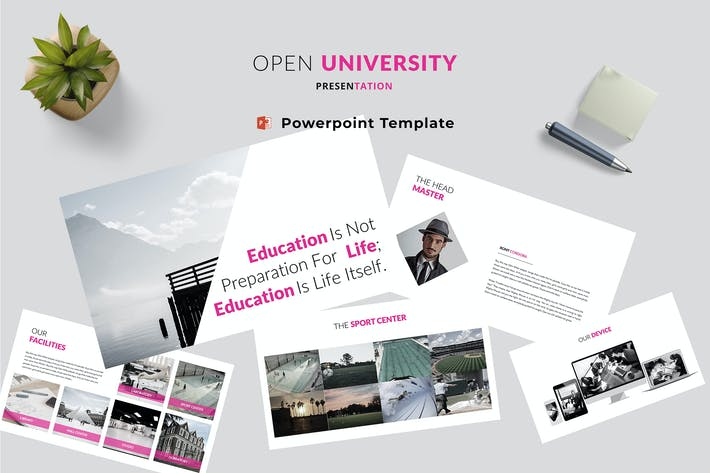 Thumbnail for Open University Powerpoint Template