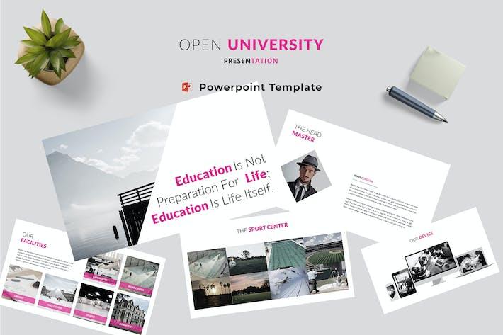 Thumbnail for Open University Powerpoint Template