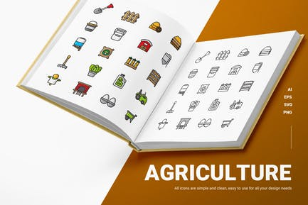 Landwirtschaft - Icons