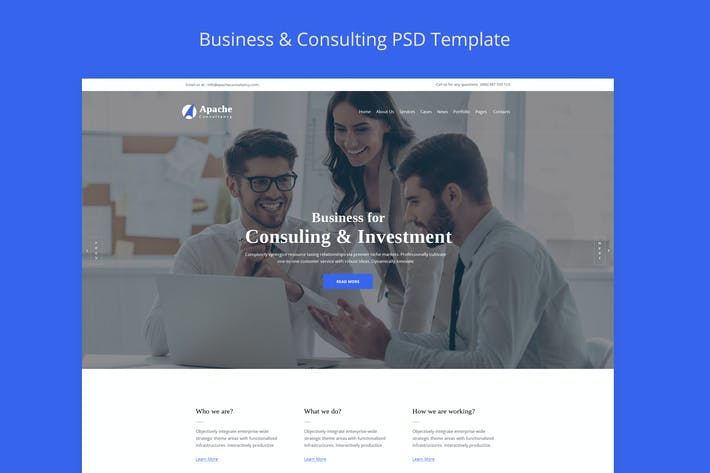 Thumbnail for Apache-Business-Consulting HTML Template