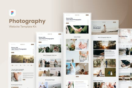 Photography Freelance Website Template