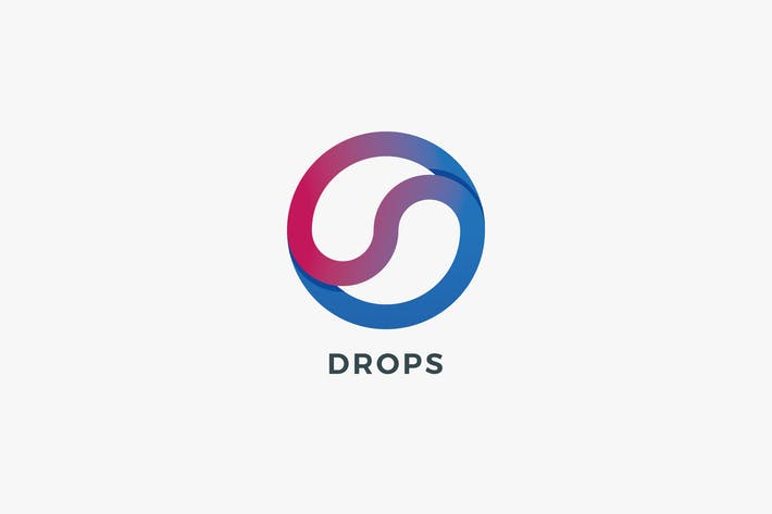Thumbnail for Drops Logo Template