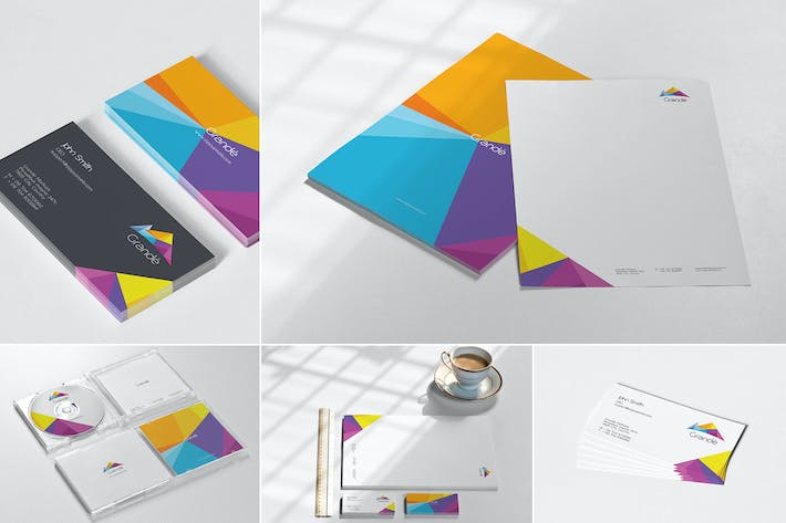 Thumbnail for Corporate Stationery Mockups