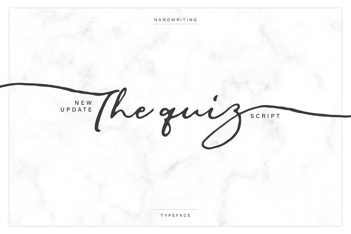 The Quiz Script + Webfonts
