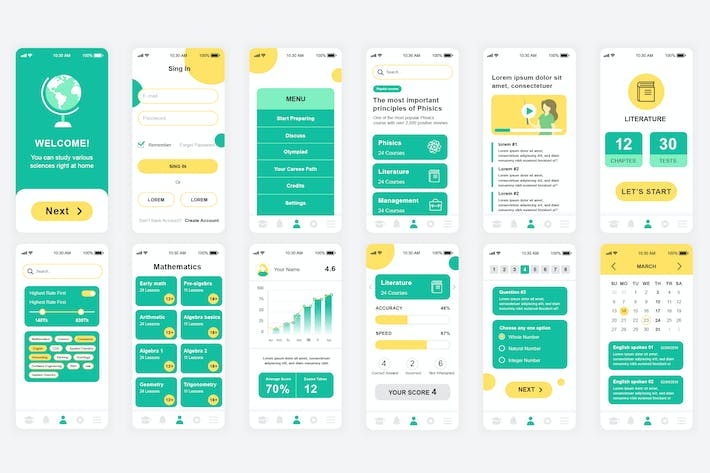 Thumbnail for Education Mobile App UI Kit