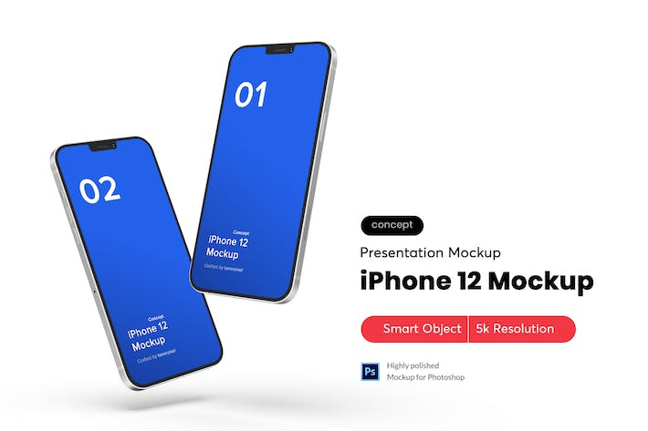 Thumbnail for Floating iPhone Mockup 3.0 (Concept)