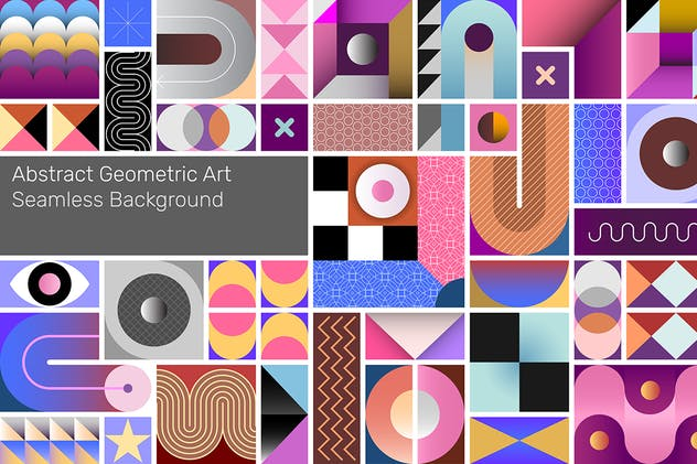 Abstract Geometric Vector Seamless Background