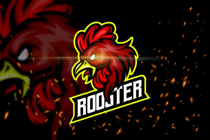 Thumbnail for Rooster - Esport & Mascot Logo Template
