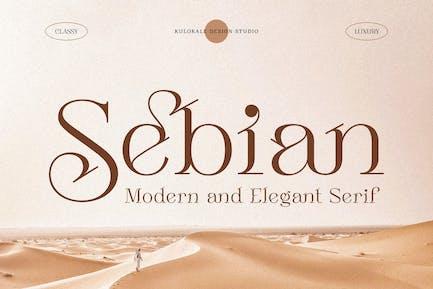 Sebian Elegant Serif Font