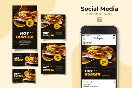Burger Social Media Pack