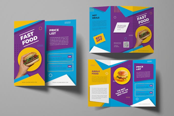 Thumbnail for Fast Food Trifold Brochure