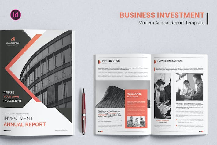 Thumbnail for Business Investment – Annual Report Template