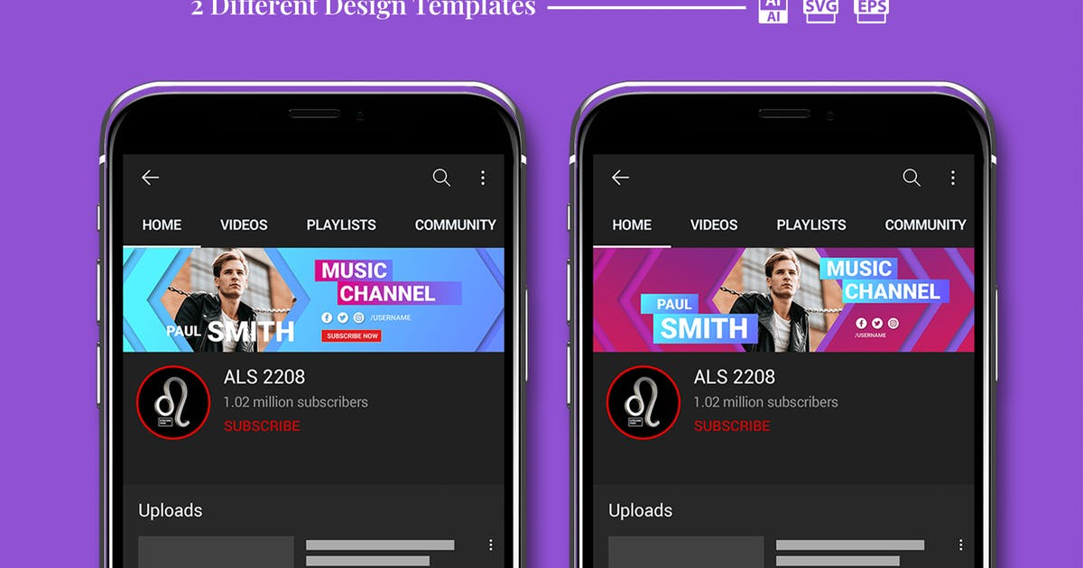 Download Music Channel Youtube Banner by alphaleonis_std
