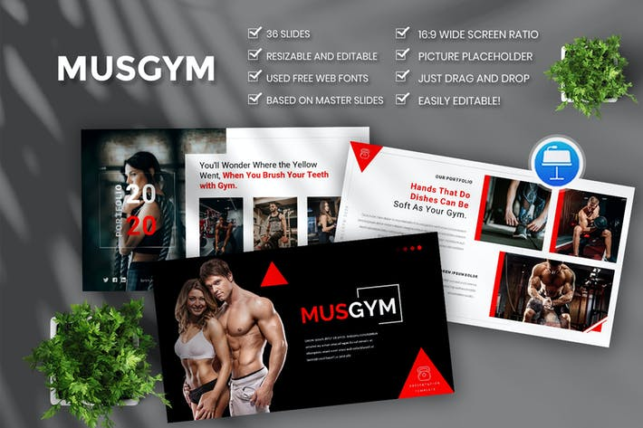 Musgym – Creative & Business Keynote Template