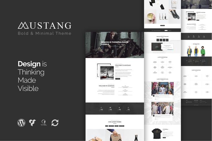 Thumbnail for Mustang - Bold & Minimal WordPress Theme