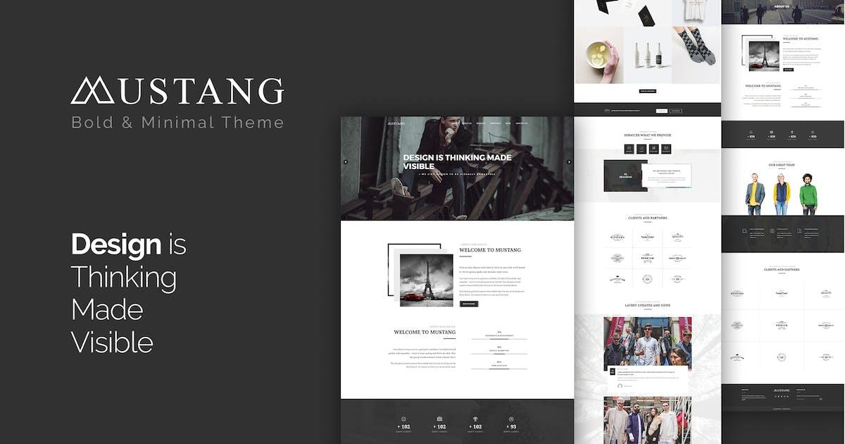 Download Mustang - Bold & Minimal WordPress Theme by themeton