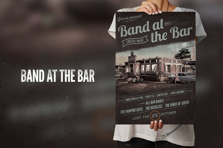 Thumbnail for Band at the bar Flyer Poster