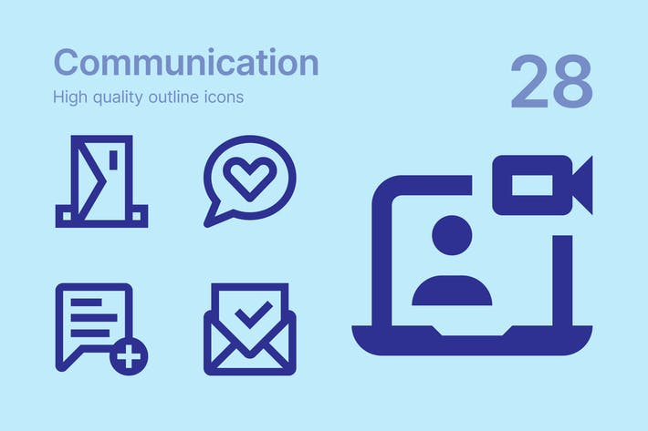 Thumbnail for Communication icons