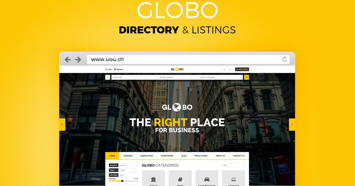 Download Globo - Directory & Listings HTML Template by DirectoryThemes
