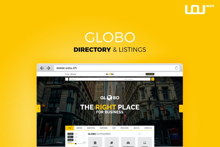 Download 32 directory website templates envato elements thumbnail for globo directory listings html template accmission Gallery