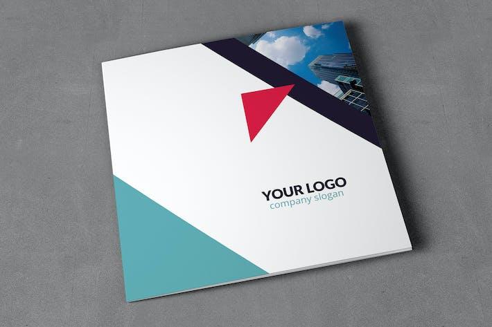 Thumbnail for Geometric Brochure Tri-Fold Square