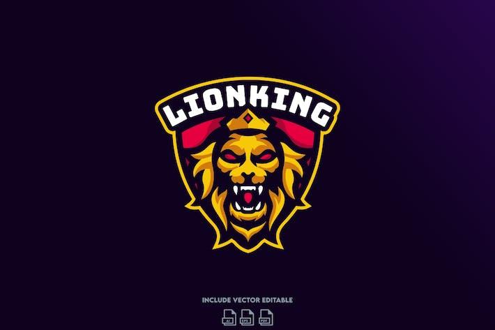 Thumbnail for Lion King E-Sport Logo Design Template