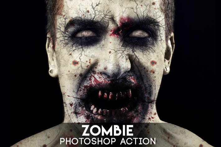 Thumbnail for Zombie Photoshop Action