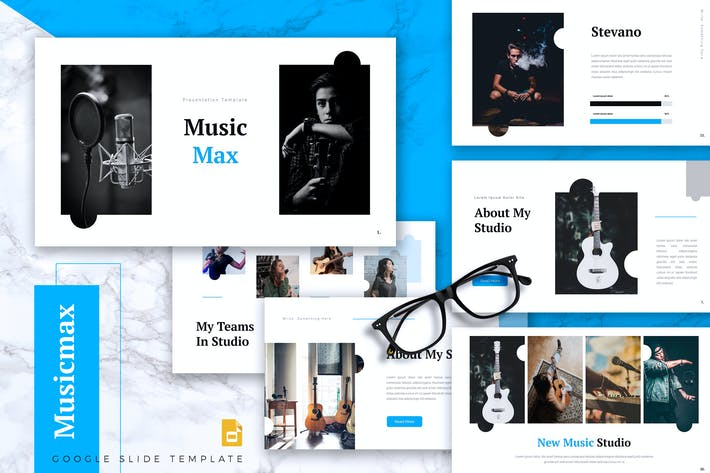 Thumbnail for MUSICMAX - Music Google Slides Template