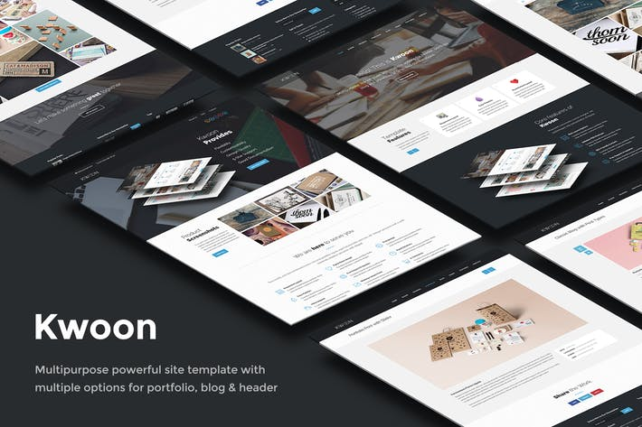Thumbnail for Kwoon – Multipurpose Single/Multi-page Template