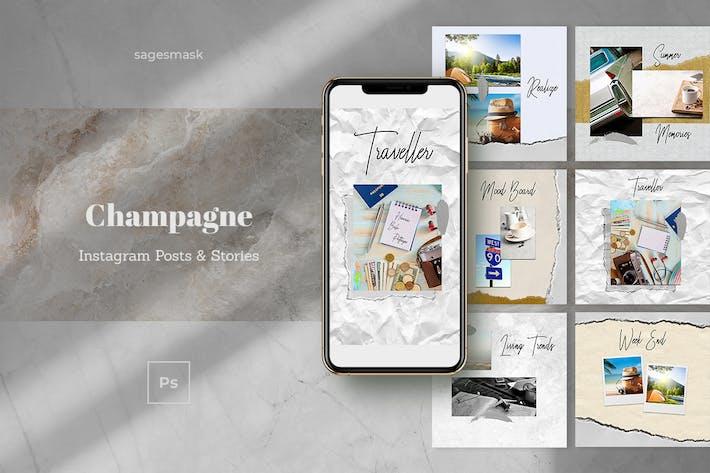 Champagne Instagram Posts & Stories