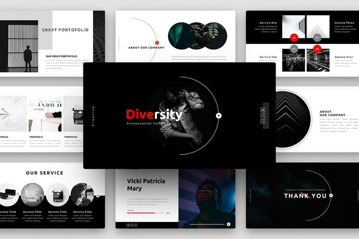 Thumbnail for Diversity-Creative PowerPoint Template