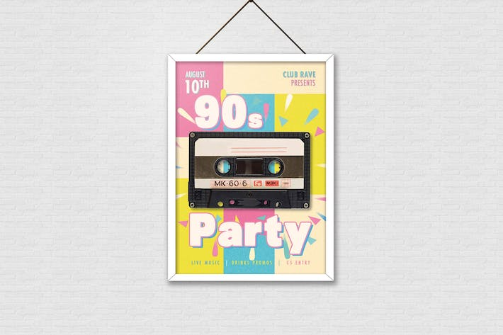 Cover Image For 90s Party Poster