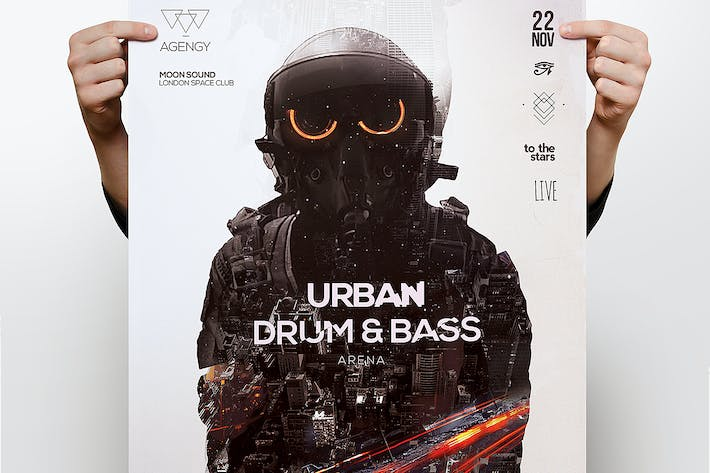 Thumbnail for Drum & Bass Poster