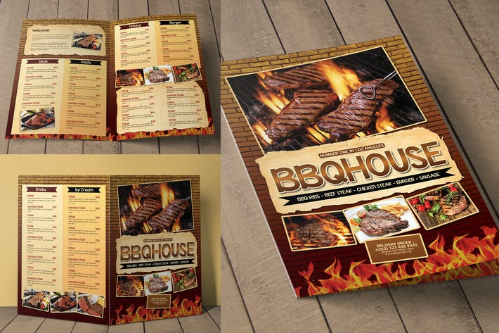 Thumbnail for BBQ / Steak Menu Bifold