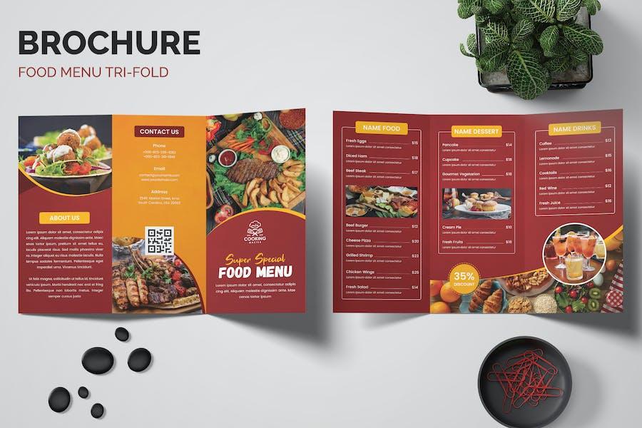 Food Restaurants Trifold Brochure