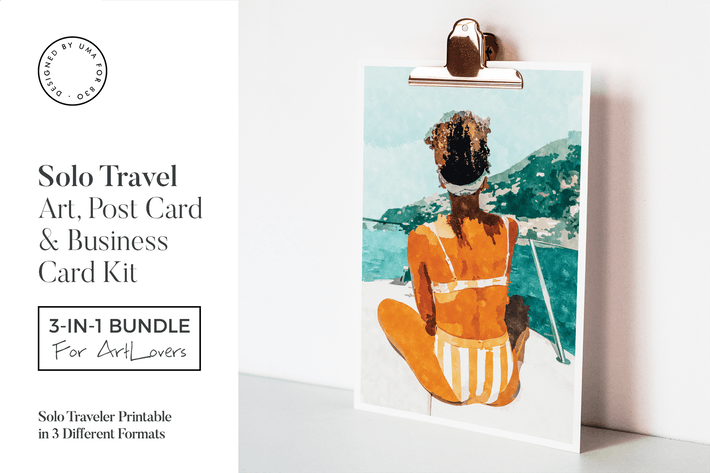 Thumbnail for Solo Traveler Art & Stationary Kit
