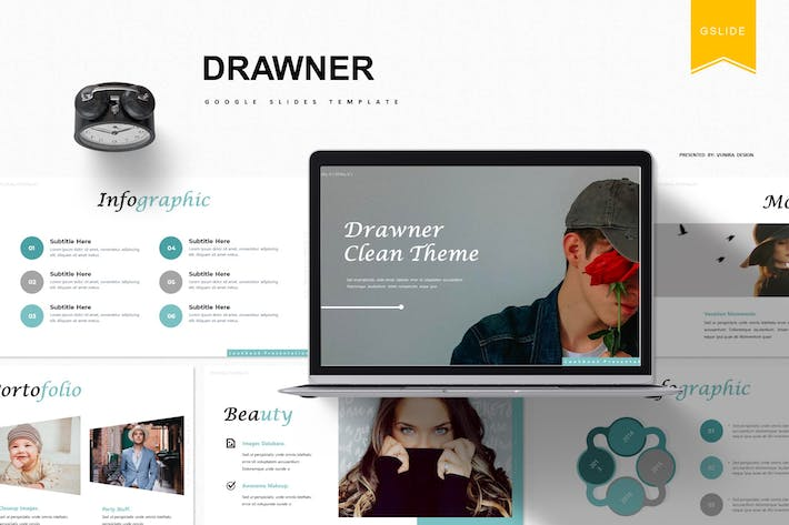 Cover Image For Drawner | Google Slides Template