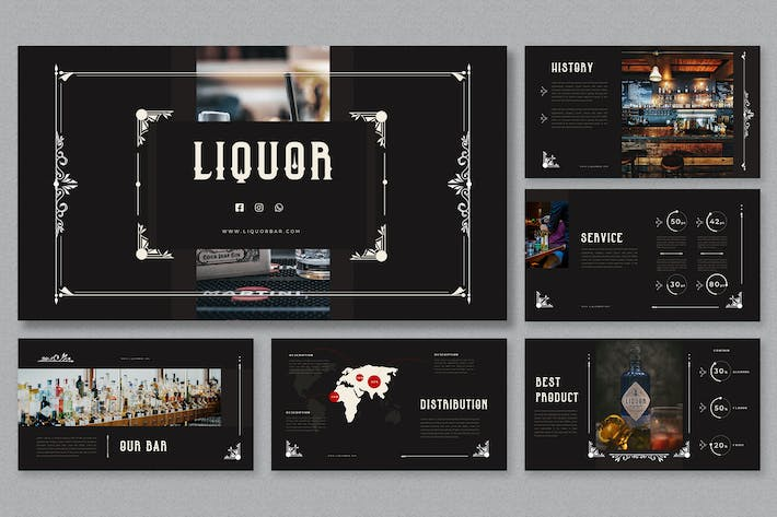 Thumbnail for Dark Vintage - Liquor Presentation
