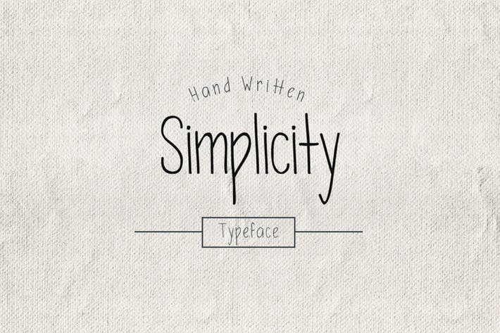 Thumbnail for Simplicity Typeface